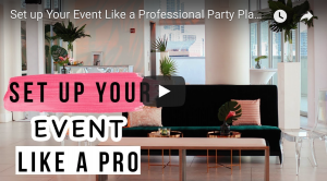 event setup video with wedding planning tips at penthouse riverside wharf in miami
