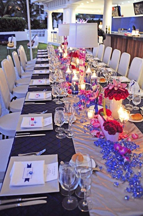 micro wedding reception table